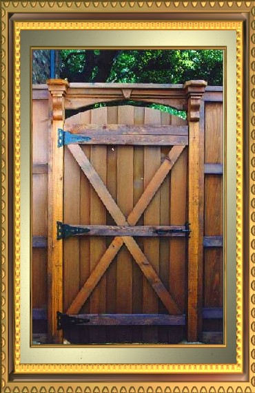 Wood Gate Construction